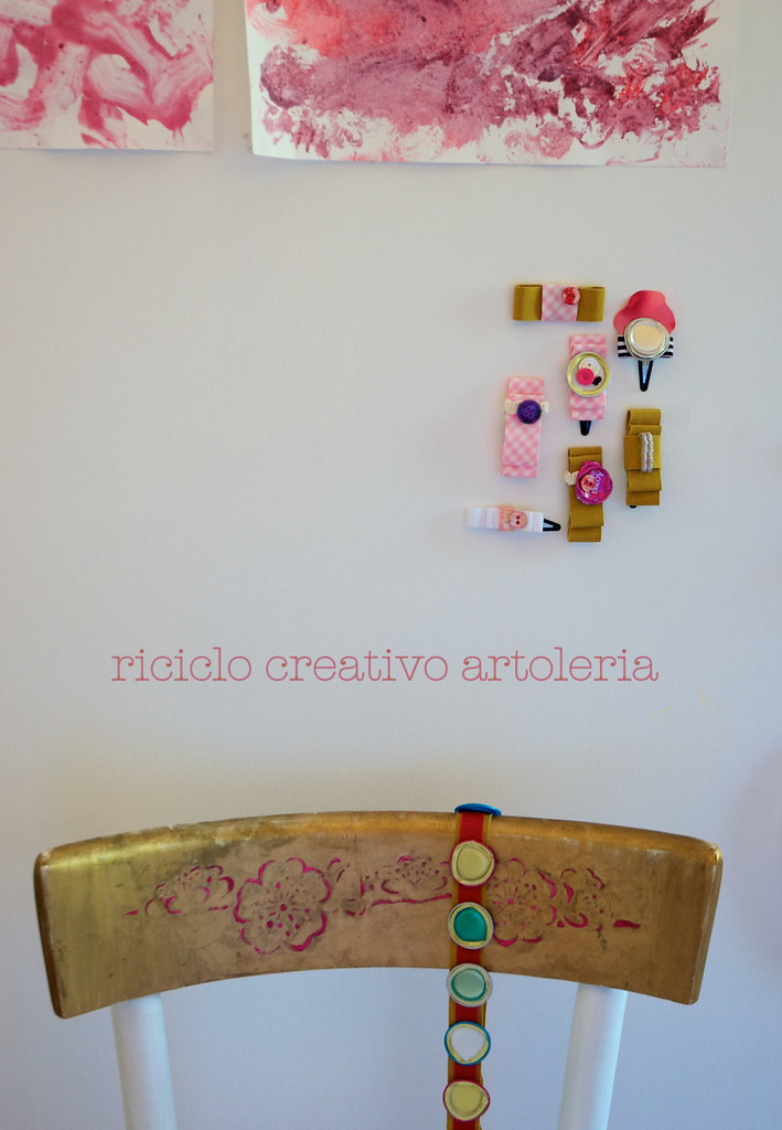 accessori da riciclo creativo tappi di alluminio