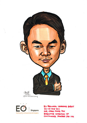 caricature for EO Singapore - Mr Cheo Ming You