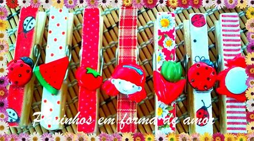 Pregadores decorados. by ♥Paninhos em forma de amor♥