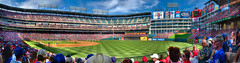 Rangers Ballpark in Arlington (HDR pano) (J.R.Photography) Tags: sky arlington canon texas baseball stadium tx diamond 7d mariners nik rangers hdr texasrangers 1755mm rangersballparkinarlington