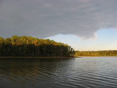 Clouds over Lake Townsend Photo