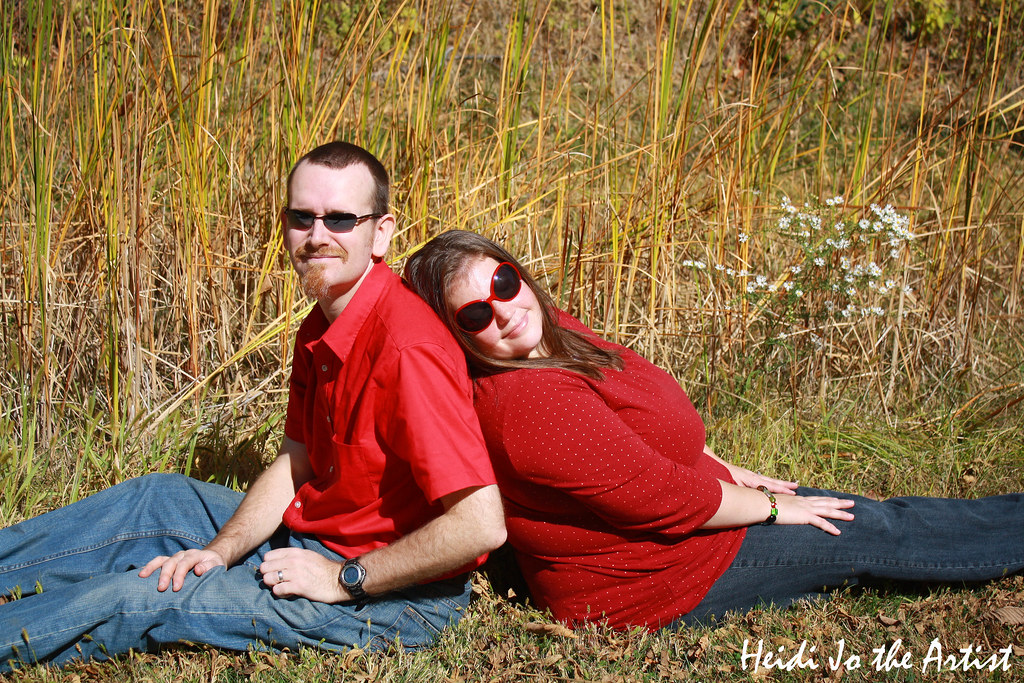 Close up couple in red