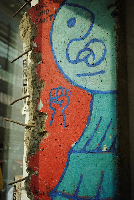 Art on a Remnant of the Berlin Wall