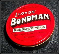 Lloyds' Bondman pipe tobacco tin 1960's. (Ledlon89) Tags: 1960s smokers tobacco tins lloyds adverts pipetobacco oldtins tobaccotins bondman richardlloydandsons