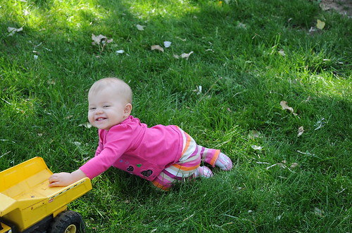 Kids and grass, and a healthy dose of dirt