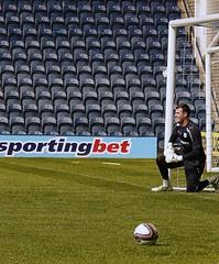 Andrew Lonergan : Goalkeeping Practice : Open Training Session - Preston NE : Now Leeds United ? or Everton ?   :  70-210 f/4 AF Nikkor: Nikon's best midrange zoom (norbet1) Tags: uk england people english digital photoshop nikon zoom north adobe 400 saturation preston british nikkor pne 400asa deepdale nikond1x prestonnorthend alienskinexposure 70210mmf4af nikonzoom70210mmf4series nikkor70210mmf4afzoom