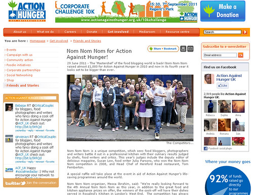 Action Against Hunger & Nom Nom Nom - click to read more