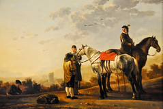 Aelbert Cuyp - Two Cavalry Troopers Talking to a Peasant, 1650s at The Queen's Gallery Buckingham Palace London England (mbell1975) Tags: uk two england london art dutch museum painting golden gallery museu r