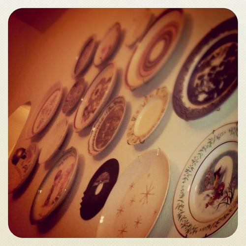A record among plates.