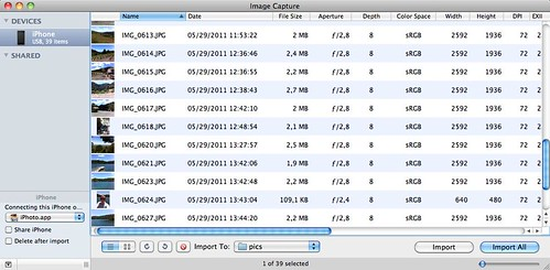 Image Capture (native OSX app) can be used to delete multiple=