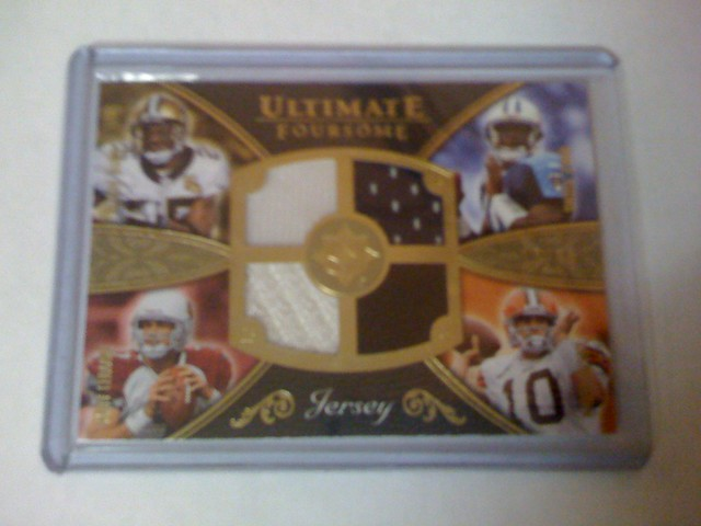 2008 Ultimate 4-Patch Reggie Bush / MATT LEINART / Vince Young / Brady Quinn 12/50