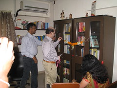 Chief Guest Inaugurating the library.JPG