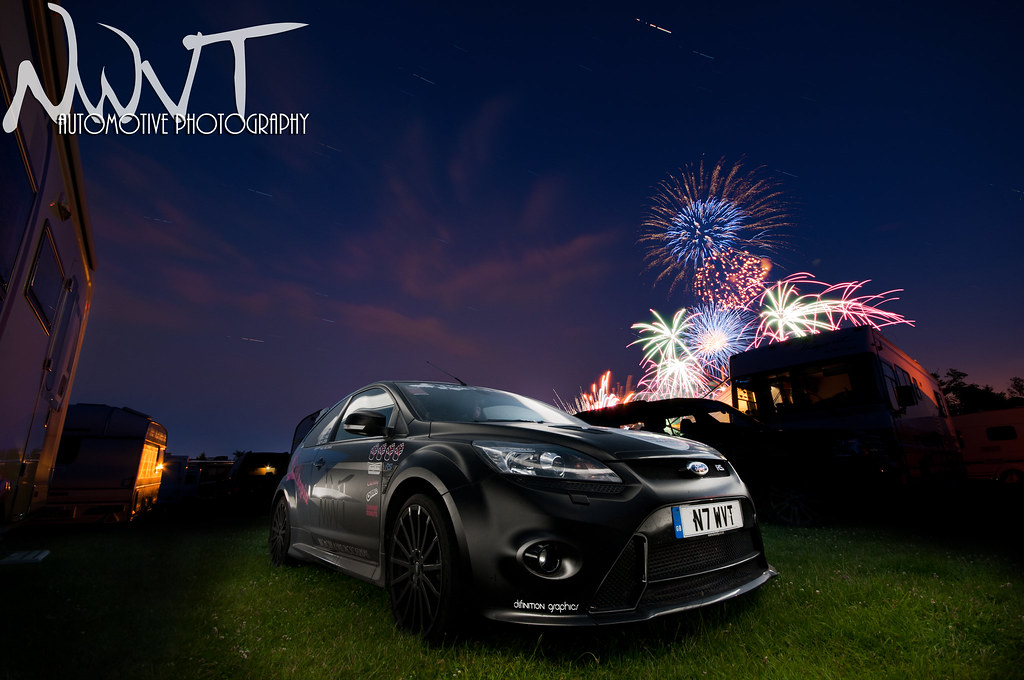 Ford Focus RS Mk 2 At The 2011 Goodwood Festival Of Speed On The Night Of The Ball THe Fireworks and Stars Came Out To Play