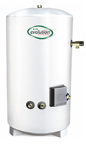 indirect hot water cylinder-Pullin Evolution Stainless Steel Unvented Hot Water Cylinder Indirect 150L