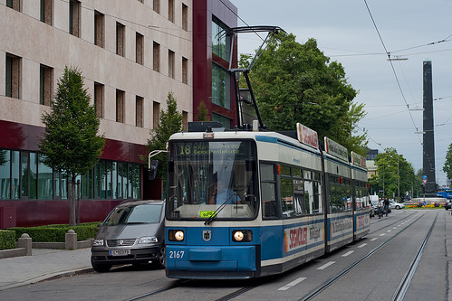 Auch Wagen 2167 musste am Karolinenplatz wenden