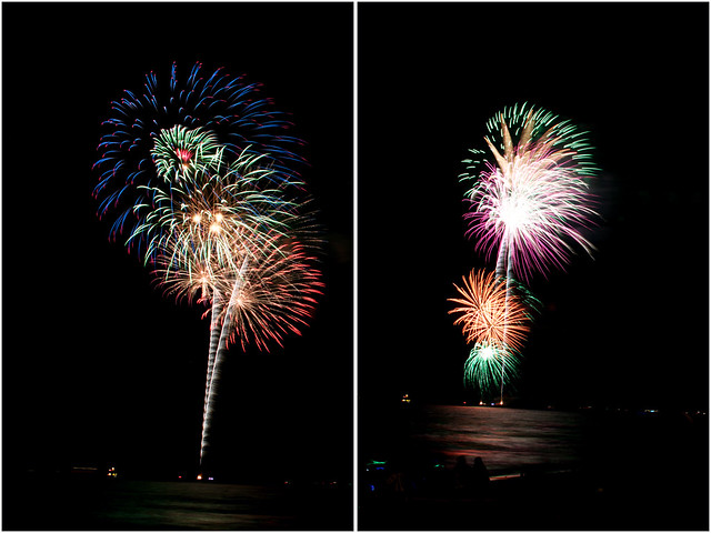 July 4th fireworks diptych 9