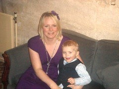 My Son Nathan & Myself (Chubby Lizzie) Tags: boy english girl smile hair photo hug elizabeth child profile mother son lizzie suit lass mum blonde cuddle chubby chubbygirl