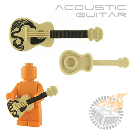 Acoustic Guitar - Tan (black Dragon print)