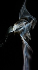Smoke Art - Wispy Way (Feggy Art) Tags: abstract art canon photography rebel photo artwork kiss photos smoke flash creative trail burn stick winding pure vivitar wispy incense wisp strobe plumes drifting drift xsi whisp unit plume ignite x2 inscents 283 flashgun inscent whaft smokeart artsmoke insent strobist 450d insents feggy themacrogroup yongnuo victius yn467 whafting