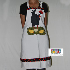 Delantal diseño patchwork gallina con pollitos (Manualitas) Tags: handmade craft apron patchwork hen artesania gallina delantal manualidad davantal