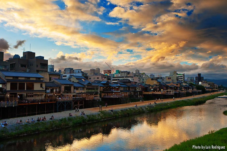 Río Kamo en Kioto