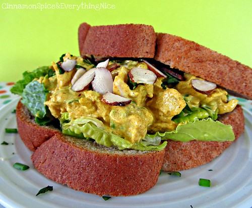 Curried Chicken Salad with Golden Raisins and Almonds