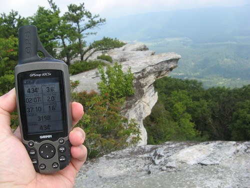 GPS unit at McAfee Knob