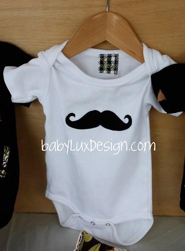 babyluxdesign.com mustache onesie