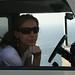 Michelle e ao fundo o Pacífico