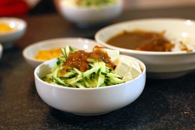 梅ドレッシング豆腐サラダ!同居人OJIKI作! #gohan