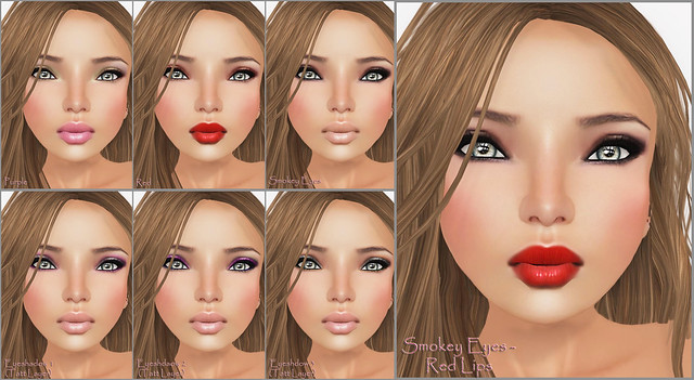 Lara Hurley-Odette Tan - Purple - Smokey Eyeshadoq &Red Lips