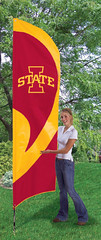 Iowa State Tall Feather Flag