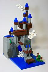 Micro Falls Fortress (Siercon and Coral) Tags: castle waterfall lego contest mini fantasy micro moc npu