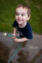 Garden Hose (teamribcage) Tags: boy 2 summer two people wet water canon outside kid toddler child play outdoor hose patio splash corbin ef35mmf14lusm 5dmarkii 5dii