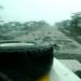 Tanta chuva que a estrada virou um rio