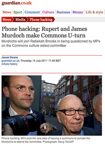 Rupert and James Murdoch make Commons U-turn - PR problem or Moral problem