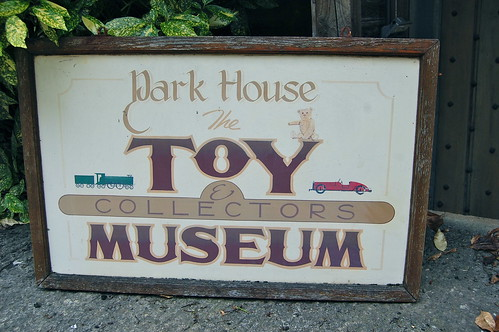 The old toy museum sign