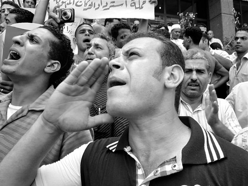 Egyptian protesters by Gigi Ibrahim under a CC Licence