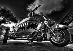 Side Car with Attitude (Ken Yuel Photography) Tags: canada winnipeg manitoba attitude harleydavidson machinegun sharkteeth motorcyclesidecars di