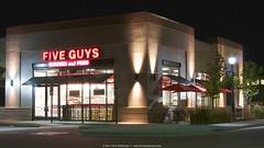 Five Guys Lone Tree Colorado (poldervaart) Tags: building night restaurant long exposure five guys fries burgers cpo fiveguys poldervaart chrispoldervaart