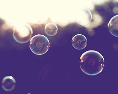 Bubble-licious (CarolynsHope) Tags: light sun sunlight reflection fun happy purple bubbles bubble tones carolynshope