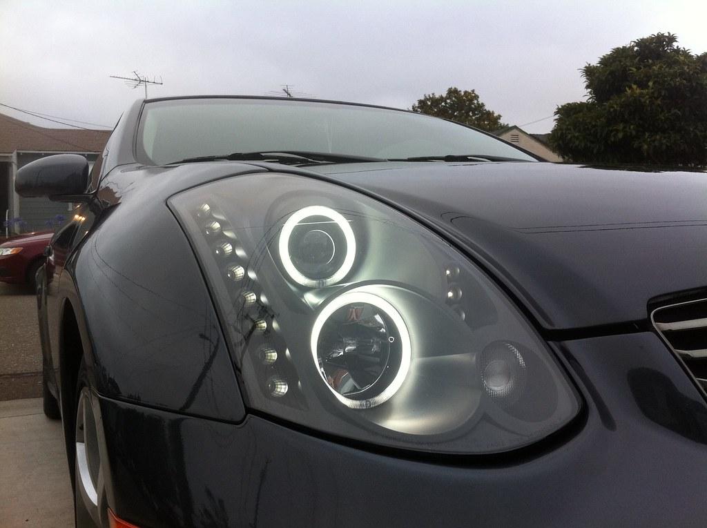 FS: V2 Headlights w/Black housing [g35 coupe 03-07 ...
