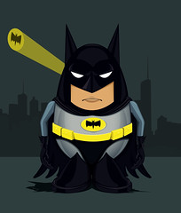 Mr Potato Bat (Lishoffs) Tags: art night mr head humor bat potato batman gotham signal vector