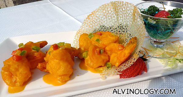 Salted Egg Golden Prawns