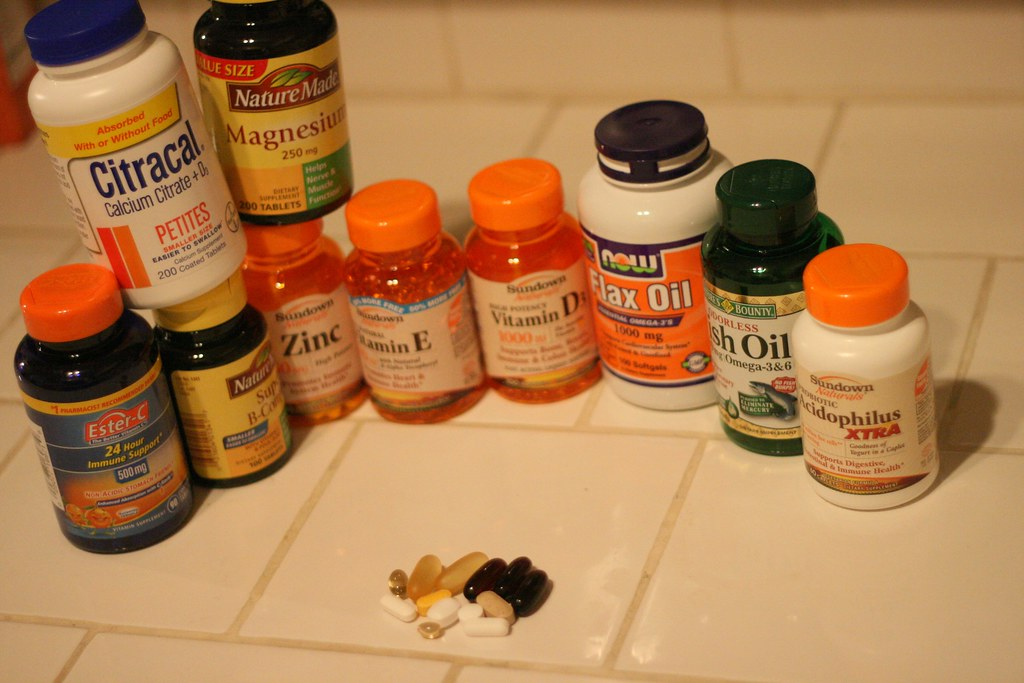 Vitamins, oils, & minerals aiding me to recovery!