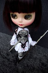 For Ana III (Kikihalb ♧ Forest~Tales ♧) Tags: 2 stockings design belt outfit war doll dress handmade lace embroidery painted goddess skirt clothes elf armor corset warrior blythe lounging lovely cyborg collar custom cassis lineage embroidered bellona gaiters avadon
