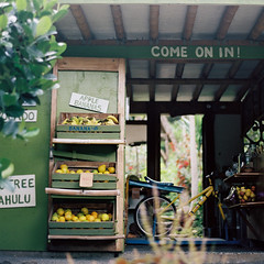 come on in! (the cheshire smile) Tags: hawaii maui fruitstand roadtohana
