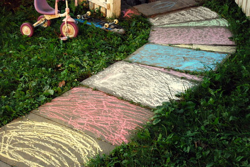 Chalk - My Front Yard Otherwise Known as the Candyland Game Board