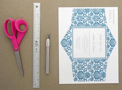 how to make a pochette invitation tutorial polka dot bride