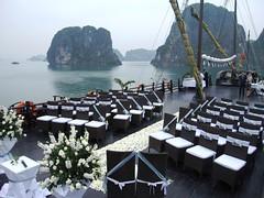 Wedding-set-up-on-Halong-Bay